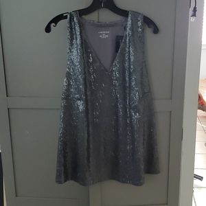 Lane Bryant Gray Sequined Top